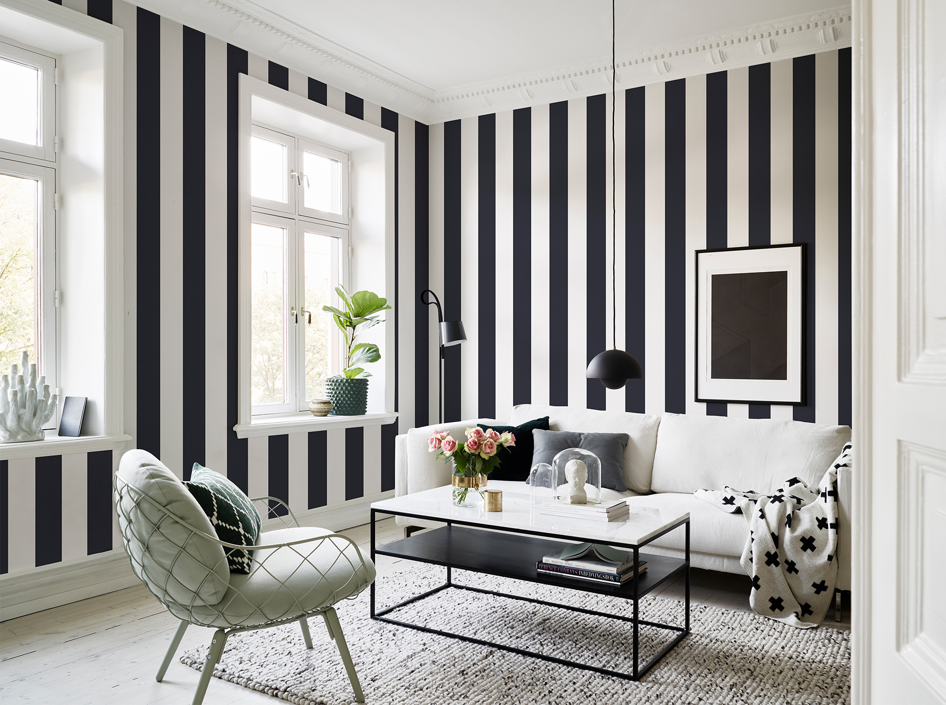 10 striped wallpaper design ideas - Wallpaper Design Ideas